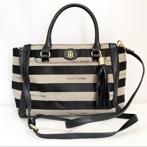 Tommy Hilfiger Fabric Crossbody Satchel